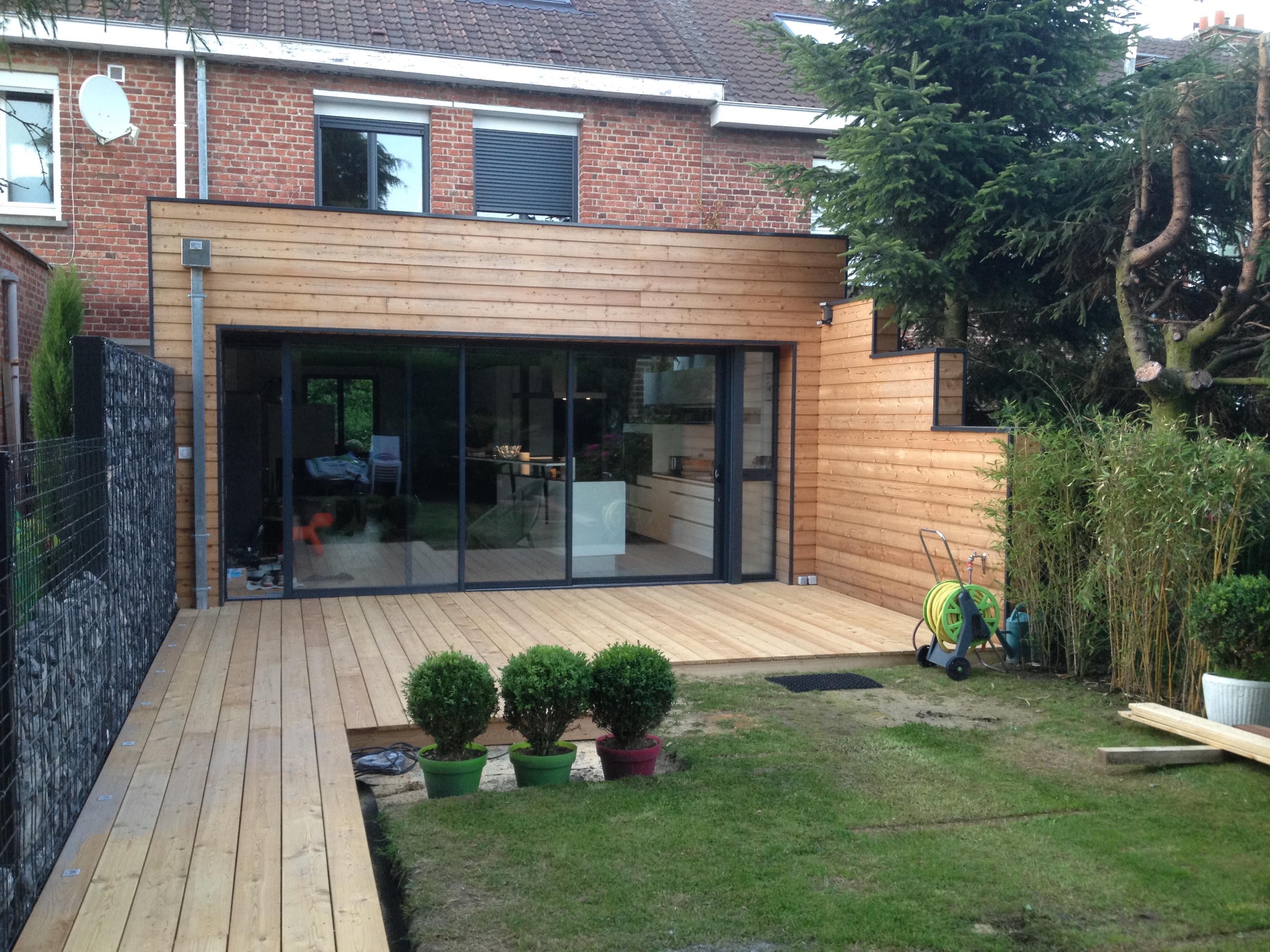 Terrasse bois mélèze